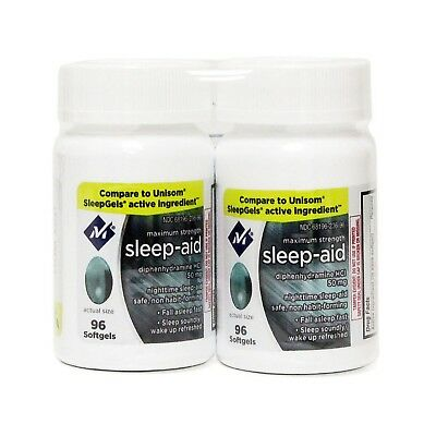 Member's Mark Sleep Aid Softgels Twin Pack 192 Count Free Shipping