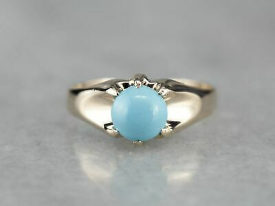 Men's Belcher Set Turquoise Ring