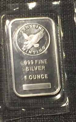 1 Oz .999 Fine Silver Bar - Troy Ounce Ingot Bar - Sunshine Minting