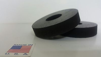 """Rubber Spacer Anti-vibration 1/2 THK X 2-3/4"""" OD X1/2 ID MADE IN THE USA 12 pack"""