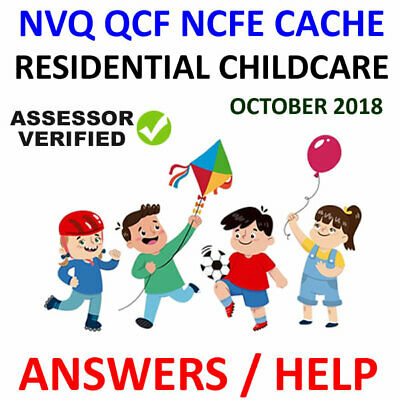 Nvq / Qcf Residential Childcare Level 3 Diploma Answers Help Cache Ncfe