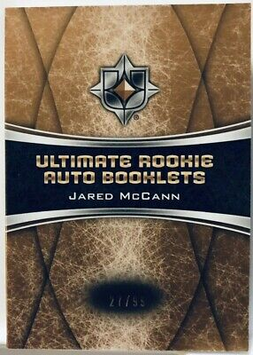 2015-16 Jared McCann /99 Ultimate Rookie Auto Booklets Hard Sign Upper Deck SP
