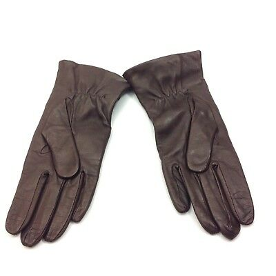 Sermoneta Gloves B1 Made in Italy Women's Size 7.5 Brown Leather Cashmere Lined