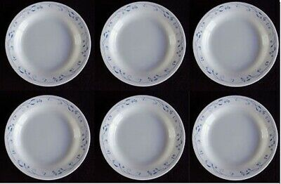 New! Corelle Provincial Blue flower Flat Rimmed Soup Salad Bowl 15oz - set of 6
