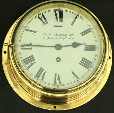 Thomas Mercer St Albans 8 Day English Marine Ships Clock