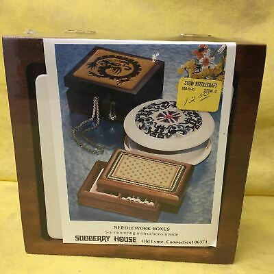 """Sudberry House Needlework Box Vintage 6' square by 2.5"""""""