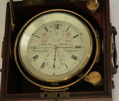 Joseph Sewill Liverpool Antique Marine Ships 56Hr Chronometer  4804 Gwo