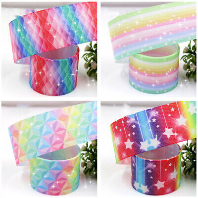 Satin Grosgrain Ribbon 38mm 1 1/2'' 5 Yards Meters Full Roll Flash Print Wedding
