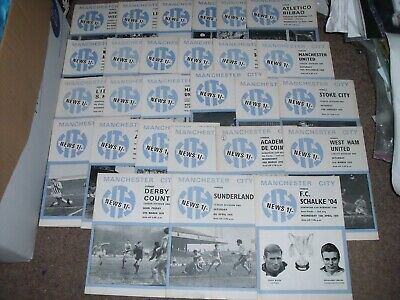 Manchester City Football Programme Collection Homes 1969/70 X 27
