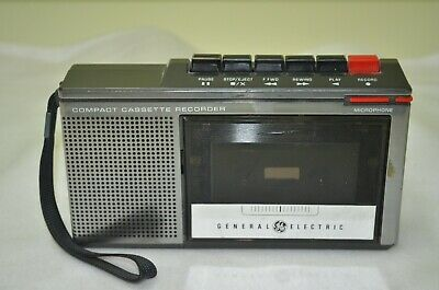 Vintage Ge General Electric 3-5300B Compact Cassette Recorder - Nice