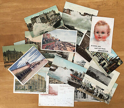 Collection of 29 Early 20th Century 'Brighton' Postcards
