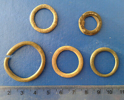 lot of 5 Celtic bronze ring-money, 5th-1st cent BC. №62