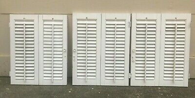 Mixed Lot of VTG Colonial Wood Interior Louver Plantation Window Shutters