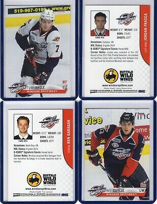 2018/19 Windsor Spitfires {OHL} Team Issued cards -- You pick from list!