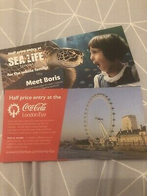 50% Off Half Price London Eye Sea Life London Days Out Attraction Family Fun Kid