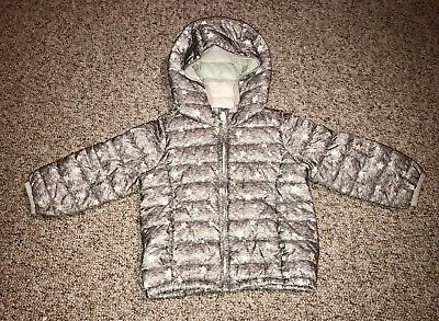 6895b4638 babyGAP Toddler Girls Winter Insulated Puffer Jacket Coat 2T Primaloft Gray