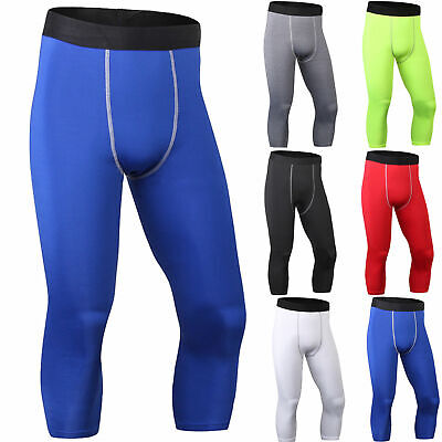 17879e46ec7f5 HERREN GYM SPORT Tights Legging 3/4 Hose Kompressionshose ...