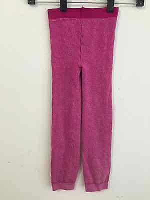 Zara Terez Cropped Leggings Cotton Blend Fuchsia/Pink Heather Girls Size M NWOT!