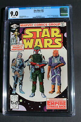 Star Wars #42 Empire 1st BOBA FETT Lando YODA Williamson 1980 MOVIE CGC VFNM 9.0