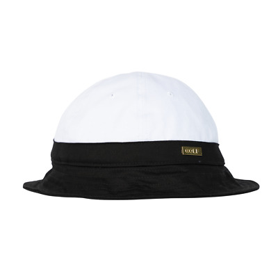 322387a2 GOLF WANG by Tyler the Creator - Gold Medallion Bell Bucket Hat ~ Black  *Limited