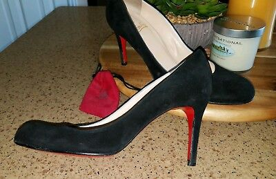 sports shoes 49a01 b0ef6 CHRISTIAN LOUBOUTIN SIMPLE Pump 37 100mm Black Suede Pre-Owned Good  Condition