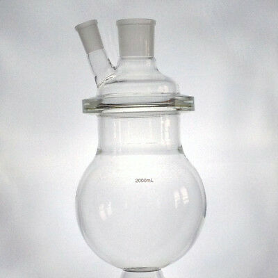 2L Reaction Vessel for Alembic Top (2000mL) with Ground Glass Joints, Lab Glass