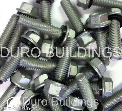 "Duro Steel Building 100 Count 5/16"" x 1.25"" New Arch Grain Bin Bolt,Nut & Washer"