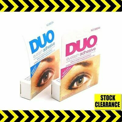 Duo Eyelash Glue Clear White Dark Black Waterproof Lash Fix Adhesive Uk