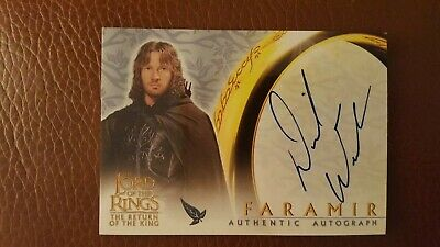 Lord of the Rings The Return of the king David Wenham as Faramir Auto Card