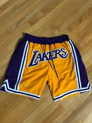 0fcf48085a7 Just Don x Mitchell   Ness Los Angeles Lakers Shorts SIZE LARGE