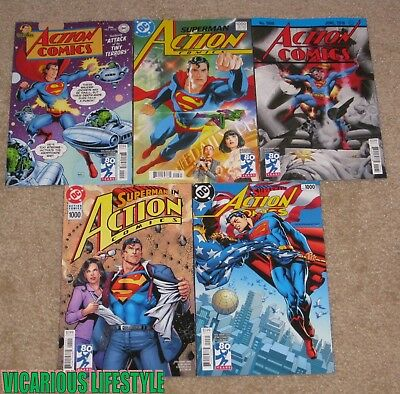 Action Comics 1000 (2016 Vol 3) 5-Variant Covers 30s 50s 70s 80s 90s DC NM