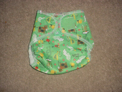 Cloth Diaper New Cover Tiny Tots Animals  Size 0 Flexi Wrap