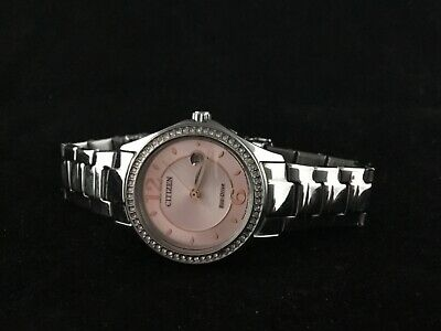 Citizen Eco Drive 'CRYSTAL' Pink Dial Women's Watch - FE1140-86X  MSRP: $225.00