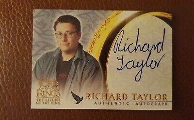 TOPPS AUTO card Lord of the Rings The Return of the King Richard Taylor
