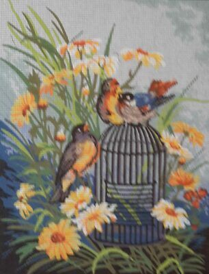 Birds On A Cage  - Printed Tapestry