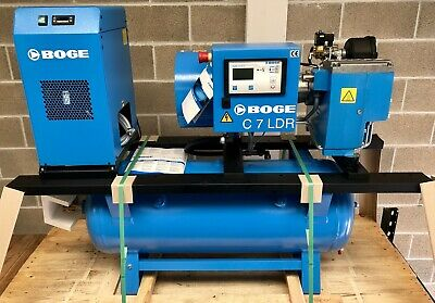 New Boge C7 LDR-160 Receiver Mounted Rotary Screw Compressor With Dryer! 25Cfm!