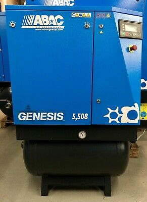 ABAC Genesis 5.508 Receiver Mounted Rotary Screw Compressor, With Dryer! 25Cfm!