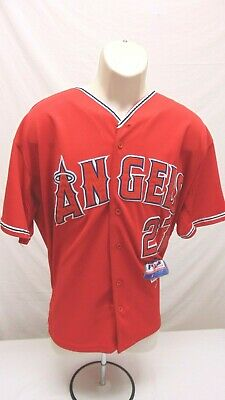 601ea329f Mike Trout Los Angeles Angels Majestic Men s XL Size 50 Player Jersey MLB