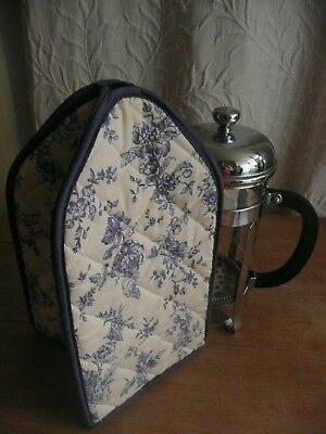 Cafetiere Cover Cosy Blue White Toile De Jouy Country Living Collection