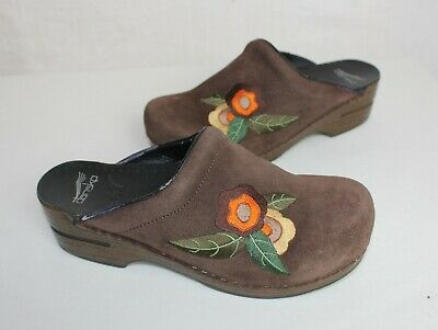 Dansko Embroidered Tool Professional Nursing Shoes Clogs Size 40 Sb4 Women's Shoes