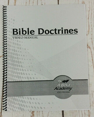 A BEKA BOOK Bible Doctrines For Today Quiz & Test Key