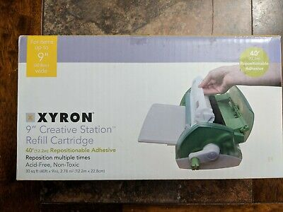"XYRON 9"" Creative Station 40' Repositionable ADHESIVE ** NEW IN BOX **"