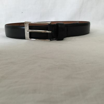 Boy's Brooks Brothers Black Leather Belt -Size 12-14 (28 Inches)-Great Condition