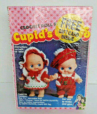 Vintage Cupid's Cuties Crochet KIT with 1 Cupid Doll Makes 2 Outfits Kit 2001