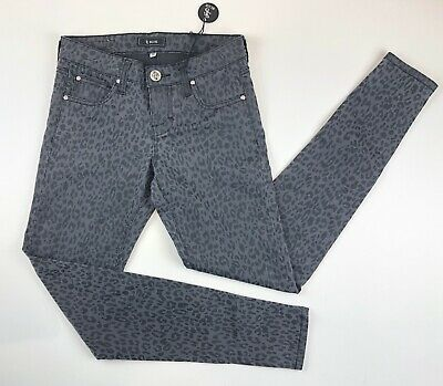 NWT STS BLUE Women's Jeans Leopard Trousers Ladies Skinny Pants Size 0 1A12502