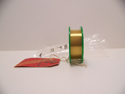 """190  meters spool Gold Plated -Tungsten  wire  0.0150 mm./ 0.0006"""""""