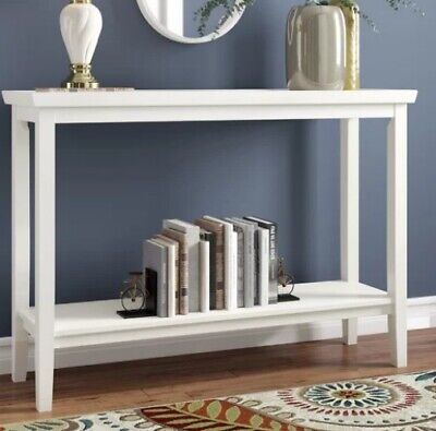 Surprising Coastal White Console Table Narrow Sofa Entry Accent Ibusinesslaw Wood Chair Design Ideas Ibusinesslaworg