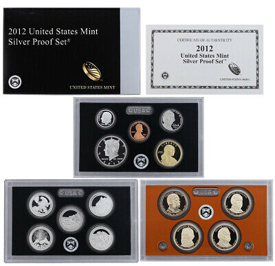 2012-S United States Mint SILVER PROOF SET 14-Coins w/Box + COA