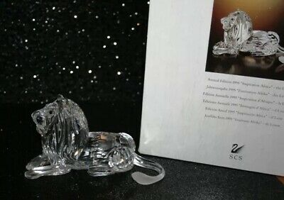 SWAROVSKI  annual edition 1995 INSPIRATION AFRICA - THE LION w/ original box