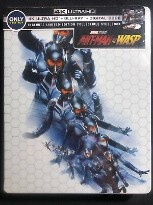Ant-Man And The Wasp + Limited Edition Steelbook + Blu-Ray + Dvd + Digital Code